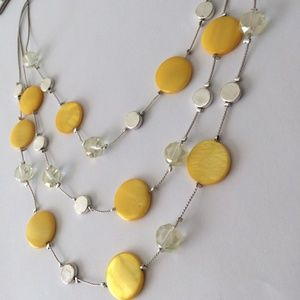 🆕 KENNETH COLE Necklace Bead Crystal Yellow